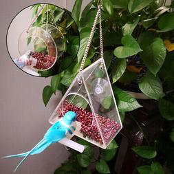 1x Clear House Window Bird Feeder,Birdhouse With Suction Out