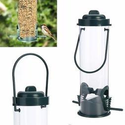 2 Feeding Ports Bird Seed Feeder Wild Outdoor Wildlife Stati