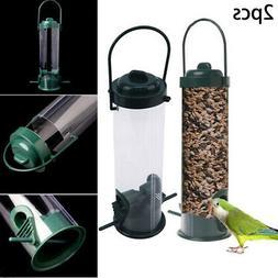 2 X WILD BIRD FEEDER - Outdoor Garden Hanging Nut Peanut Fee