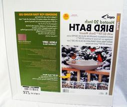 20 Heated Deck Rail Bird Bath with Quick Release