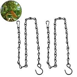 2pcs Hanging Chain <font><b>Plant</b></font> Flower Pot <fon