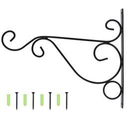2x Hanging Plant Bracket Wall Planter Hook Flower Pot Feeder