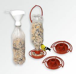 3 Hanging Wild Bird Feeders + 1 Twist-on Bird Seed Filling F