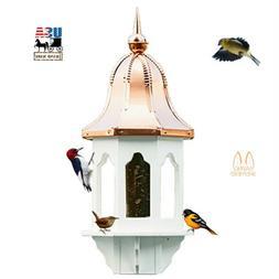 """36"""" COPPER BELL TOP BIRD FEEDER - Weatherproof Vinyl Body EX"""