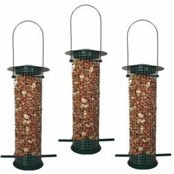3pcs Metal Hanging Wild Bird Feeder Nut Fat Ball Garden Feed