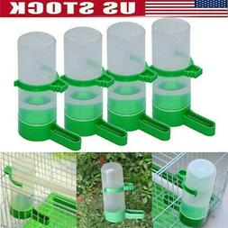 4 Plastic With Feeder Clip For Pet Bird Drinker Green Aviary
