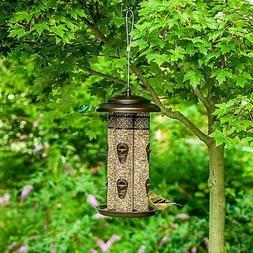 4 Tube Bird Feeder, 8 Feeding Stations, Steel Construction