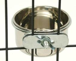 Bonka Bird Toys 800121 Stainless Steel 10 oz Cage Coop Clamp