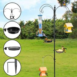 84'' Multi-Feeder Hanging Bird Feeder pole Station With 4-Ho
