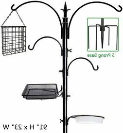 92in Bird Feeder Deck Pole Wild Bath Squirrel Proof Seed Sta