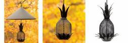 Achal Designs Pineapple Birdfeeder Black
