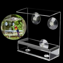 Acryl Clear House Window Bird Feeder Birdhouse With Suction