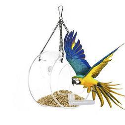 acrylic Family Premium Clear Window Bird Feeder -Clear Acryl