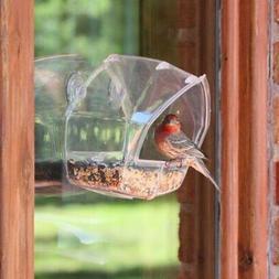 acrylic window bird feeder