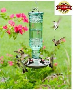 Amethyst Jewel Hummingbird Feeder Glass Bottle 5 Feeding Por
