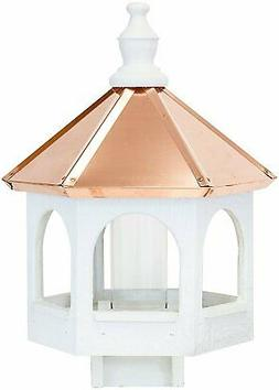 Dress the Yard Amish-Crafted 21ʺ Copper Top Gazebo Bird Fee