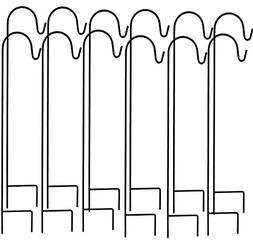 Ashman Shepherd's Hooks, Black, Set of 12 made of Premium Me