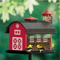 Audubon Red Barn Combo Hopper Wild Bird Feeder, Hanging or P