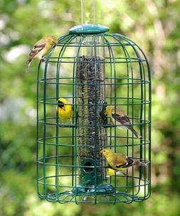 AUDUBON SQUIRREL-RESISTANT CAGED TUBE BIRD FEEDER by WOODLIN