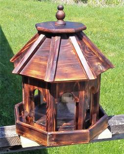 Beautiful Very large handmade cedar wood gazebo style bird f