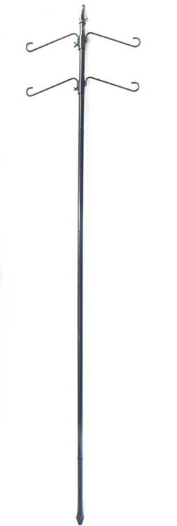 """Benba Brand Bird Feeder Station With 75"""" Pole And Two Double"""