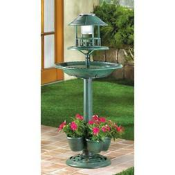 Bird Baths Fountains Plant Stands Multiple Solar Potted Nigh