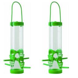 Bird Feeder -10 inches Tube Hang and Watch - 2 PACK