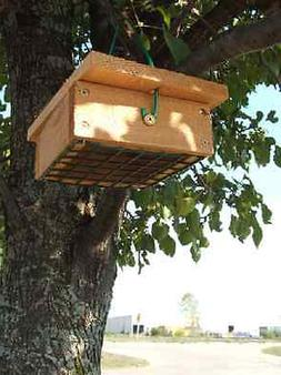Bird Feeder Cedar Upside Down Suet Birdfeeder Box