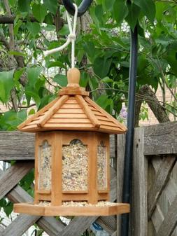 Bird Feeder Gazebo & hanging rod hand stained & Treated,pick