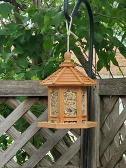 Bird Feeder hand stained w/ cinnamon) color&treat hanging ga