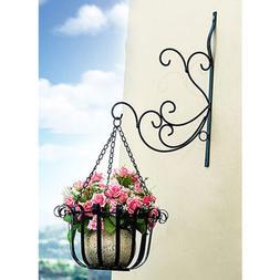 Bird Feeder Hanger Hanging Plant Bracket Wall Planter Flower