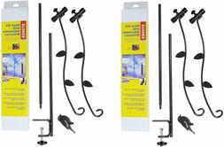 Stokes Select Bird Feeder Metal Deck Pole Kit with Two Adjus