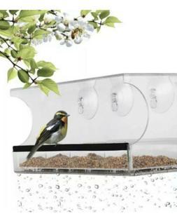 Bird Feeder Nature's Hangout Window Bird Feeder With Removab