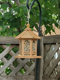 Bird Feeder oak stained/treated hanging great gift outdoor