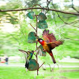 Bird Feeder Outdoor Hanging Metal Bird Feeder Garden Yard Au
