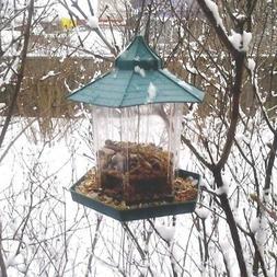 Bird feeder Outdoor Indoor bird food container Hanging Garde