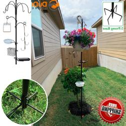 Bird Feeder Pole And Hangers For Outside Outdoors With Stand