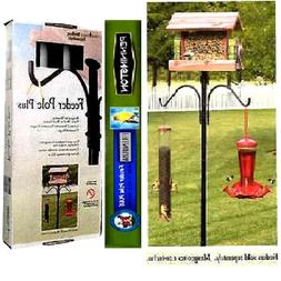 Bird Feeder  Pole Stand Steele Mounting  Hanging Plastic, Me