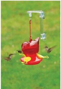 Bird Feeder, Red Bird Shaped Window Hummingbird Birdfeeder