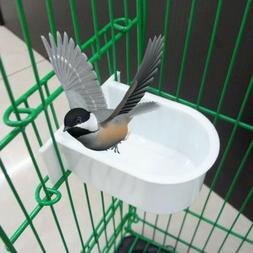 Bird Feeder Water Food Cage Plastic Feeding Bowl Mini Parrot