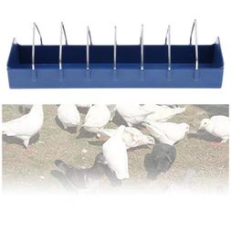 Bird Feeder Water Food Outdoor Feeding Trough Storage Feed S