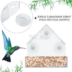 Bird Feeder Window Acrylic Clear with Suction Cup Mount Bird