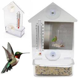 Bird Feeder Window Suction Cup Mixed Treat Clear Holder Feee