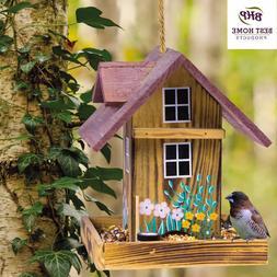 Bird Feeder Wood Garden Hanging House Nature Lovers Bed & Br