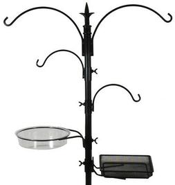 Sorbus Bird Feeding Bath Station, Metal Deck Pole for Bird F