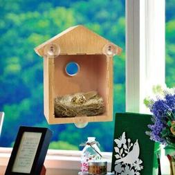 pet bird house window birdhouse with suction