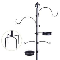 Bird Feeding Station For Outdoors Multi Feeder Pole Stand Ha