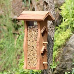 Bird Seed Feeder Station Pole Outdoor Living Garden Backyard