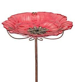New Regal Birdbath/Feeder Stake - Poppy