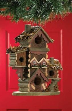 Birdhouses For Outdoors Rustic Bird Feeder Wild Perch Small
